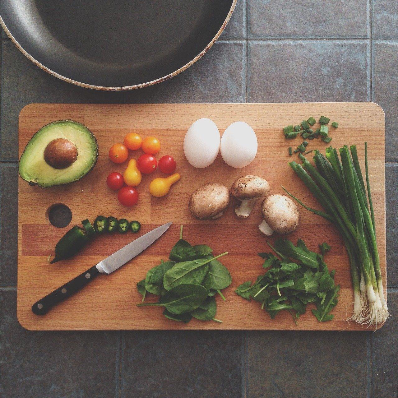 avocado, chopping board, cooking